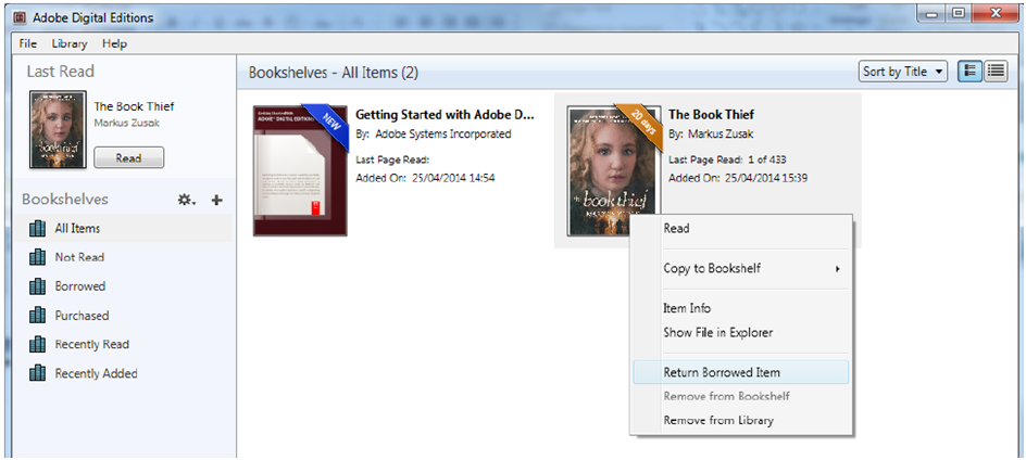 how to return ebook to library